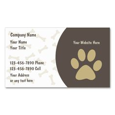 Pet Care Business Cards New. This great business card design is available for customization. All text style, colors, sizes can be modified to fit your needs. Just click the image to learn more!