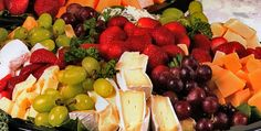 Gourmet Fruit and Cheese Platters | gourmet cheese and fruit platter brie goat cheese and a variety of ...