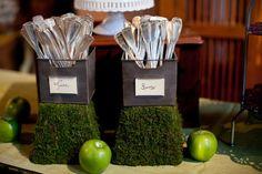 Rustic Green Wedding Decor 550x366 Fall Fall Wedding Reception in Loudoun County: Meredith + Lewis