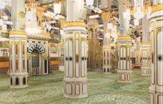 raudhah at Masjid Nabawi Medina Mosque, Mecca Kaaba, Masjid Al Haram, Mekkah, Duaa Islam, Beautiful Mosques, Peace Be Upon Him, Islamic Architecture, Madina
