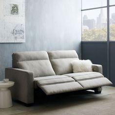 Henry® Power Recliner Sofa - Gravel (Twill) | west elm