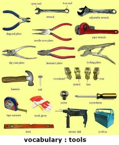 English Visual Dictionary: Tools