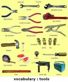 English Visual Dictionary: Tools