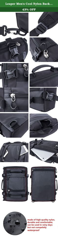 Leaper Men's Cool Nylon Backpack Hiking Rucksack Handbag Travel Duffel Bag (Large,Black). About Leaper For more than 15 years, Leaper is specialized in creating various backpacks to satisfy every customer Our products include Laptop bags, casual backpacks, daypacks, travel bags, outdoor bags, school backpacks, rucksacks, toiletry bags and so on. Our bags are upgraded fast to keep up with global fashion. And we develop our bags by studying the feedback data received from our customers. Now...