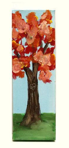 """Wedding Tree"" Original Painting, Personalized wedding gift. ©W.Rosson  #weddings #gifts #art #decor #weddinggift"