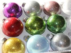 Glitter Ornaments - Happiness is Homemade