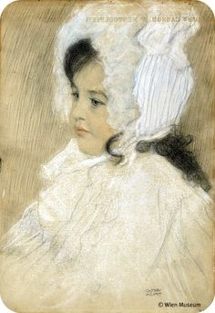 Portrait of a Child (Marie Moll), c. 1902 Gustav Klimpt