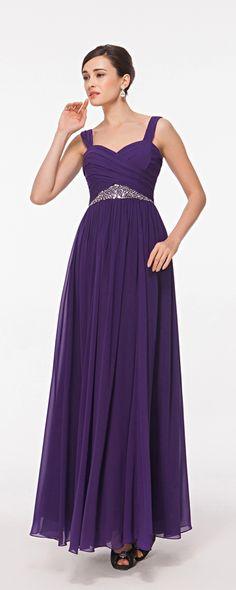Violett Abendkleider mit Traeger beaded lang Abiballkleider Brautjungfernkleider
