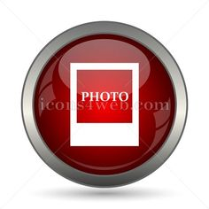 Photo vector icon. EPS10 vector icon designed in high resolution. Stock vector image for web design projects, social media page, presentations, graphical