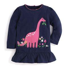 Girls' Dinosaur Applique Tunic | JoJo Maman Bebe
