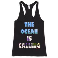 The ocean is calling Women's tank top