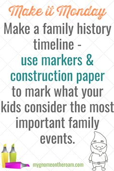 We're making a family timeline for this week's #MakeitMonday challenge! Want to join? #15magicminutes #kids #craft