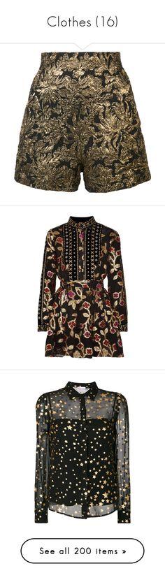 """Clothes (16)"" by asia-12 ❤ liked on Polyvore featuring shorts, haider ackermann, black, jacquard shorts, dresses, metallic mini dress, short loose dresses, short chiffon dress, colorful dresses and shiny metallic dress"