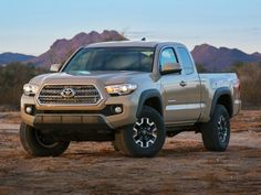 Want a camera mount to come standard with your next truck? The 2016 Toyota Tacoma is what you're looking for. Toyota has announced that the upcoming truck will come standard with a GoPro camera mount — a first for the auto industry. Toyota Tacoma 4x4, Toyota Tacoma Price, Tacoma Truck, 2016 Tacoma, Suv Trucks, Toyota Trucks, Toyota Cars, Pickup Trucks, Toyota Autos