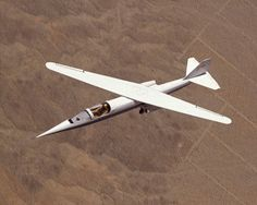 The AD-1 oblique wing aircraft built in 1979 by Ames Industrial for NASA. The AD-1 could pivot its entire wingspan from zero to 60 degrees during flight. Wind tunnel tests on scale models showed that the oblique wing configuration reduced aerodynamic drag at high speeds. This allowed the plane to increase speed and travel longer distances while decreasing fuel consumption. During manned test flights, the AD-1 demonstrated instability at certain wing angles. The project ended in 1982.