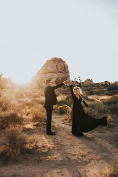 Joshua Tree and all black attire. Indian Engagement Photos, Formal Engagement Photos, Country Engagement Pictures, Engagement Photo Outfits, Beach Engagement, Engagement Couple, Engagement Shoots, Winter Engagement, Engagement Ideas