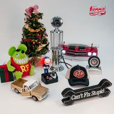 "Auto Enthusiast Holiday Gift Guide: Chevy Chevelle Shelf ""Cant Fix Stupid"" Garage sign Chevy Model Truck Rat Fink Plush Gas Pump Drink Dispenser Automotive Clock STP Baseball Hat Redline Racer Holiday Gift Guide, Holiday Gifts, Motorcycle Gifts, Man Cave Gifts, Summit Racing, Garage Signs, Chevy Chevelle, Rat Fink, Drink Dispenser"