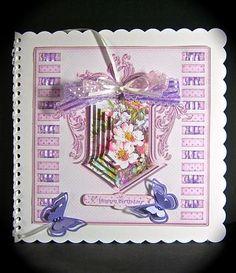 Card Gallery - Pink Flowers Threaded Ribbon Pyramage Mini Kit