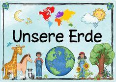 """Themenplakat """"Unsere Erde""""   Das nächste Plakat  zum Thema """"Unsere Erde"""" ist fertig. Die Anregung dazu stammt von einer Blogleserin. Ich wü..."""