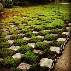 #Shigemori's first major work at #tofuku-ji #zen #garden #checkers #temple in #kyoto