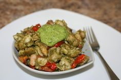 We provide seasonal recipes that are delicious, easy, achievable, and affordable. Spinach Pesto Pasta, Kung Pao Chicken, Guacamole, Green Beans, Dairy Free, Vegetables, Cooking, Ethnic Recipes, Food
