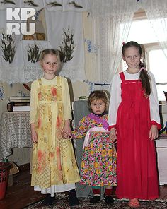 ol< Today's old believers - best keepers of traditional dress... for everyday!