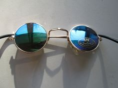 Small Children Sunglasses John Lennon Style Glasses 70s Vintage Round Hippie