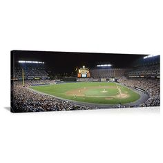 Baltimore, Maryland Camden Yards Night Game Panorama Picture