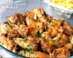 alitas de pollo al ajillo y perejil Peruvian Recipes, Tapas, Cupcake Cakes, Meal Prep, Shrimp, Sandwiches, Recipies, Food Porn, Food And Drink