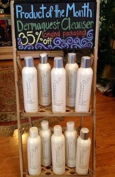 35% OFF SALE! All of Dermaquest's original cleansers. Check out our blog for details. http://katieraberblog.wordpress.com/2014/08/30/product-of-the-month-sale/