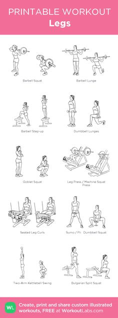 Legs Workout | Posted by: CustomWeightLossProgram.com