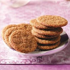 Molasses Cookies with a Kick Recipe from Taste of Home -- shared by Tamara Rau of Medina, North Dakota