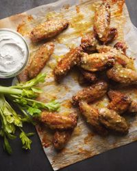 Jalapeño Hot Wings: These roasted (rather than deep-fried) buffalo-style chicken wings are smothered in a spicy green jalapeño sauce, which is pureed with pickled jalapeños for an extra hit of puckery flavor.