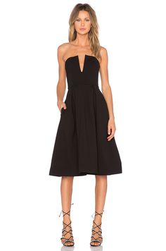 NICHOLAS Ponti Strapless Ball Dress in Black | REVOLVE