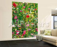 Flower Field Wall Mural Landscapes Wallpaper Mural - 183 x 254 cm