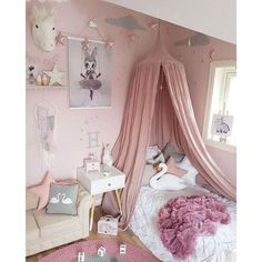 Dix-Rainbow LEDUNUS Princess Bed Canopy Mosquito Net for Kids Baby Bed, Round Dome Kids Indoor Outdoor Castle Play Tent Hanging House Decoration Reading Nook Cotton Canvas Coral Pink Canopy Bed Curtains, Kids Bed Canopy, Canopy Tent, Bed Valance, Baby Canopy, Bed Canopies, Canopy Crib, Curtain Room, Window Canopy