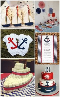 Nautical Baby Shower Ideas from HotRef.com #bauticalbabyshower