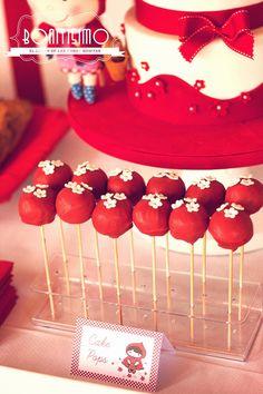Tercer cumpleaños de Marta: cumpleaños caperucita roja / little red riding hood birthday