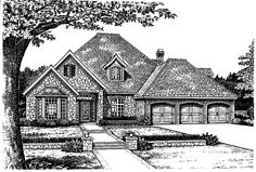 eplans french country house plan engaging two story european home 3171 square feet and 4 bedrooms from eplans house plan code - 1 Story French Country House Plans