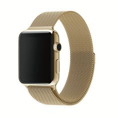 Mintapple Milanese Band 'Edition' Yellow Gold - Built for Apple Watch | Available in 38mm & 42mm | 100% Genuine Leather | 7 colour choice including 'Sport' model