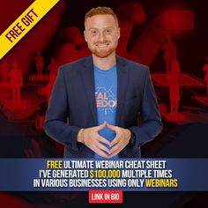 CLICK@christophermduncan BIO LINK  and learn the exact step by step system to grow any business using webinars - It's How @christophermduncan made over $1 Million online in  under a year working in his spare time - He teaches you how to do it And how you can ethically knock off his process - This program is Usually $99 and is Free For 12 Hours ONLY - LINK IN @christophermduncan BIO Learn How To: | Double or tripple your leads | Run a High  converting webinar | Start a businenss in any niche…
