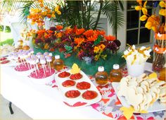DIY Butterfly & flower centerpiece or it can also be put on the floor to double as a butterfly garden