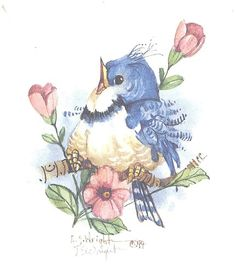 """This 5"""" x 5"""" lithograph is based on a watercolor by Carolyn Shores Wright and is one of many birds she has painted over the years. The print is signed by the artist."""