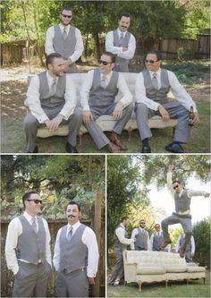 gray groomsmen ideas #groom #groomsmen #weddingchicks http://www.weddingchicks.com/2014/02/26/fun-and-feisty-forest-wedding/