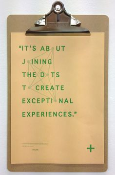 It's about joining the dots to create exceptional experiences.