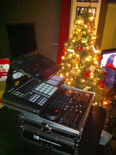 Ready to party during the Christmas holidays  with my traktor set up