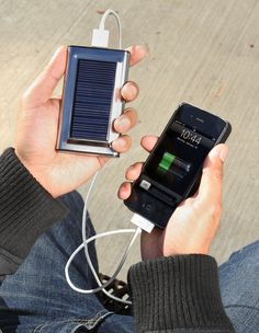 Solar powered charger-- Great something to have in case of power outage.