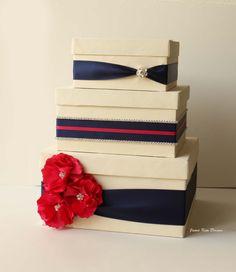 Card box for Wedding Money Box Gift Card Holder by jamiekimdesigns