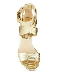MICHAEL KORS Tulia Metallic Sandals