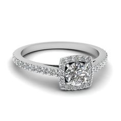 Verlobungsring zierlich Shop square halo diamond petite engagement ring in white gold at Fascinating Diamonds. This diamond engagement ring is designed in Prong setting Petite Engagement Ring, Classic Engagement Rings, Halo Diamond Engagement Ring, Diamond Rings, Diamond Jewelry, Jewelry Rings, Shops, Best Diamond, Ring Verlobung
